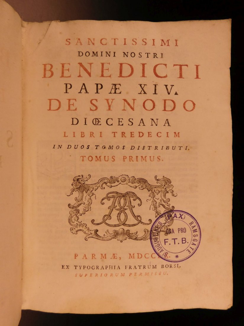 1760 Pope Benedict XIV Catholic Church Liturgy Vatican - 2