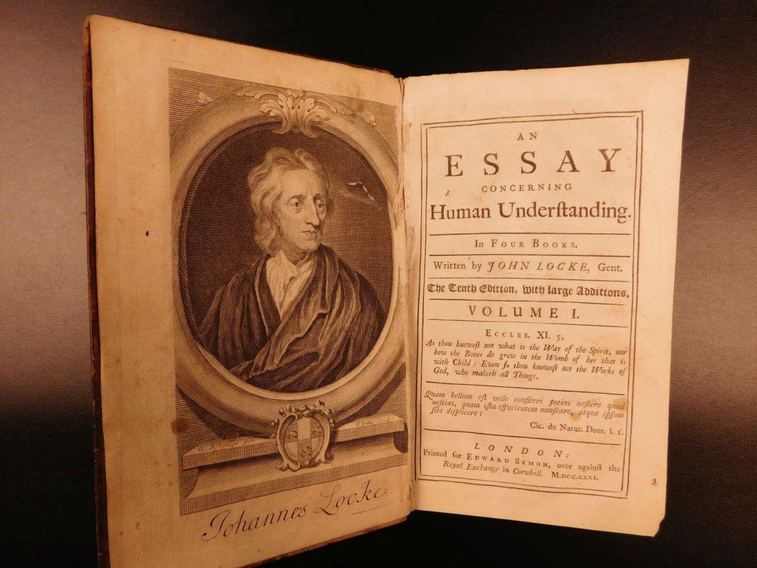 1731 John Locke Essay Concerning Human Understanding - 3