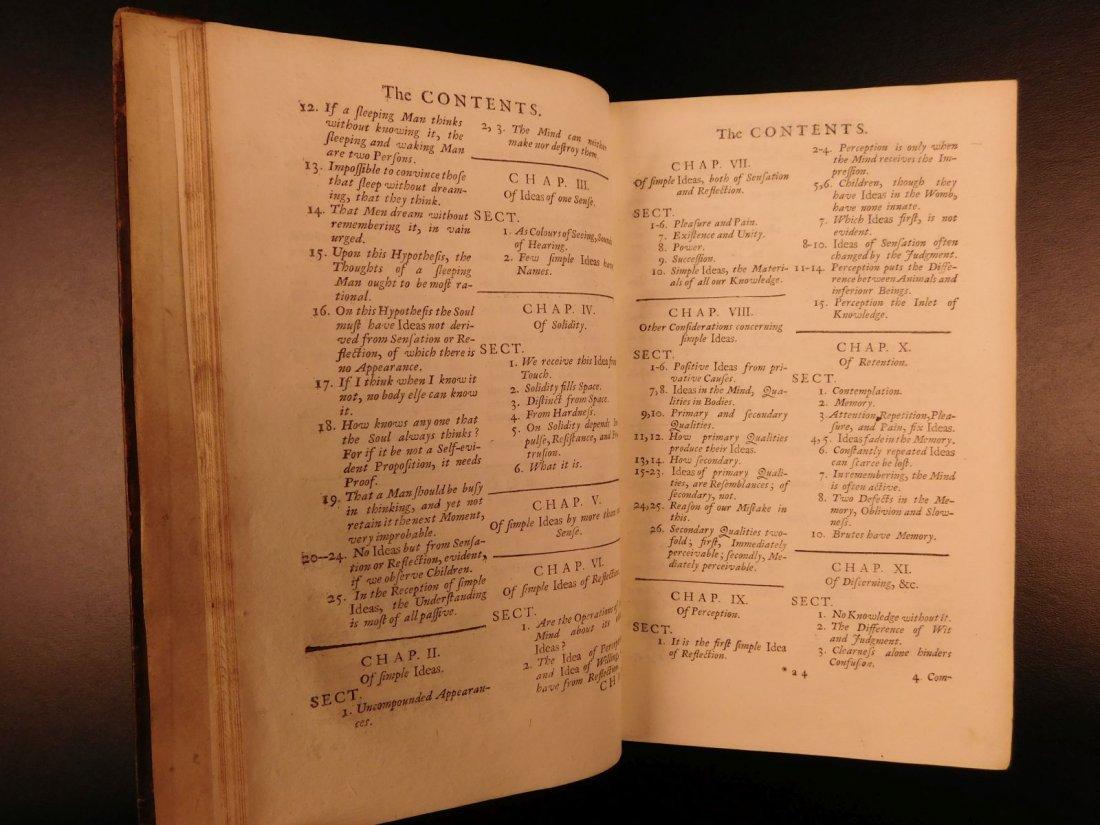 1731 John Locke Essay Concerning Human Understanding - 8
