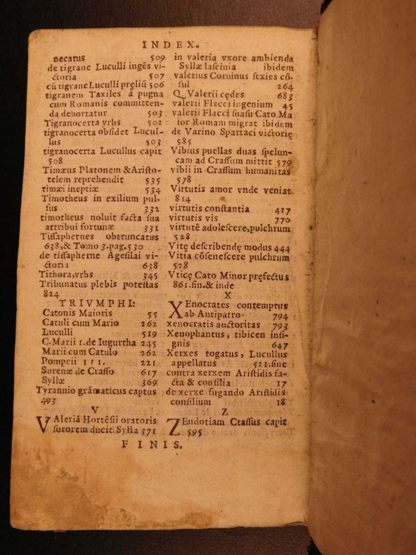 1566 PLUTARCH Parallel Lives Latin Pyrrhus Aristides - 10