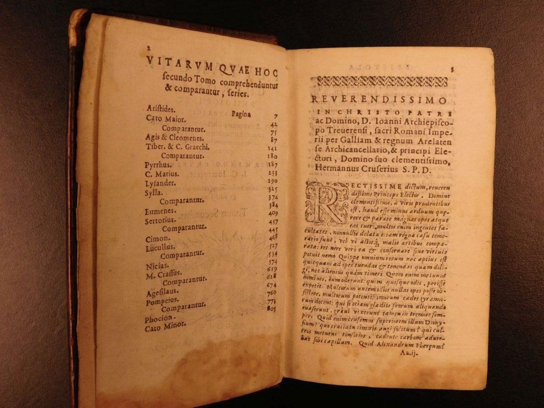 1566 PLUTARCH Parallel Lives Latin Pyrrhus Aristides - 4