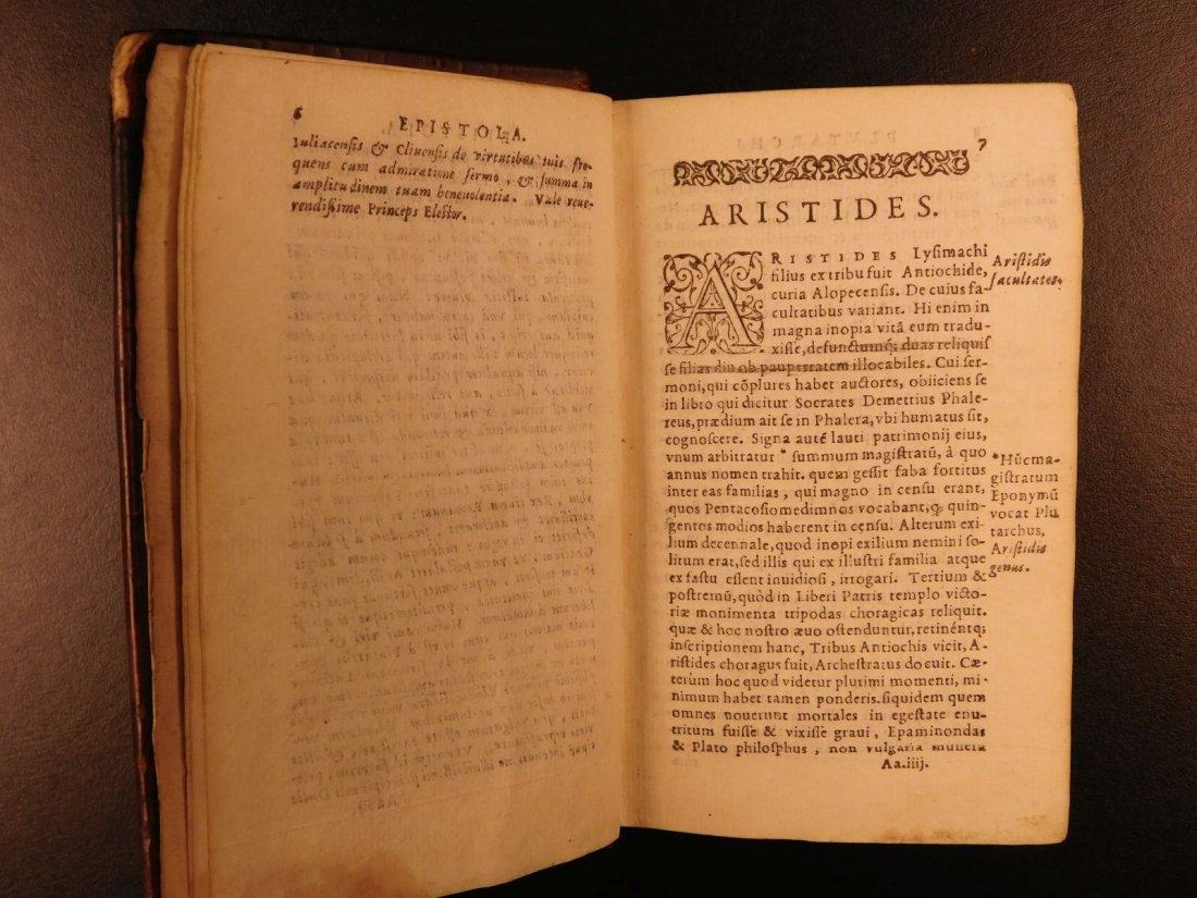 1566 PLUTARCH Parallel Lives Latin Pyrrhus Aristides - 5