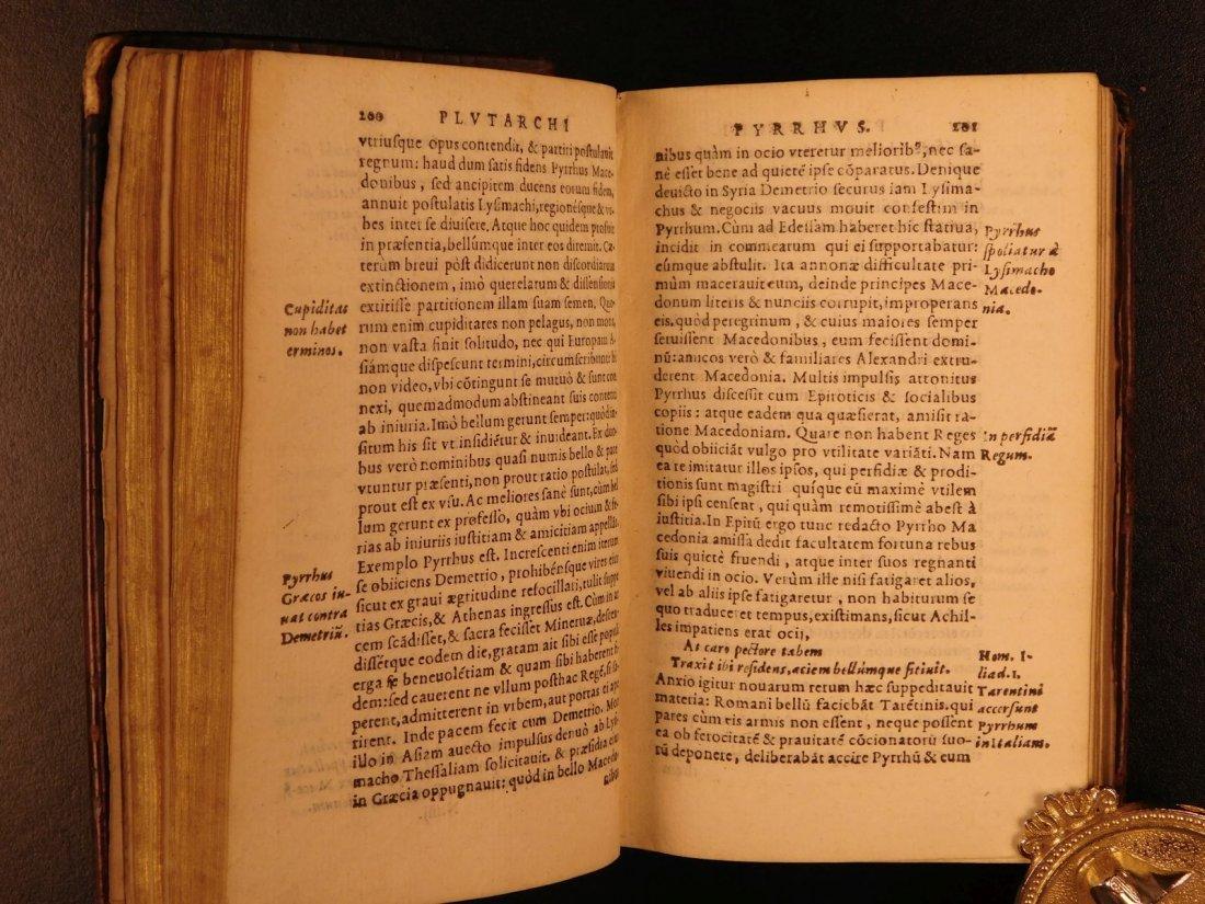 1566 PLUTARCH Parallel Lives Latin Pyrrhus Aristides - 7