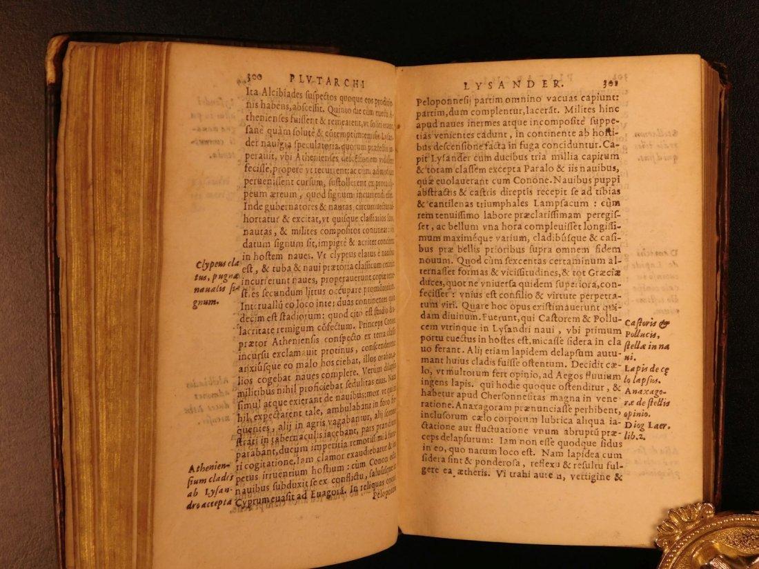 1566 PLUTARCH Parallel Lives Latin Pyrrhus Aristides - 8