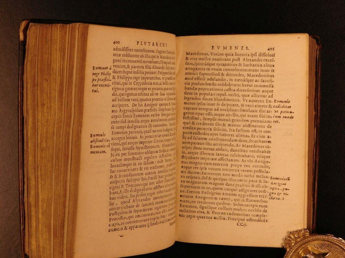 1566 PLUTARCH Parallel Lives Latin Pyrrhus Aristides - 9