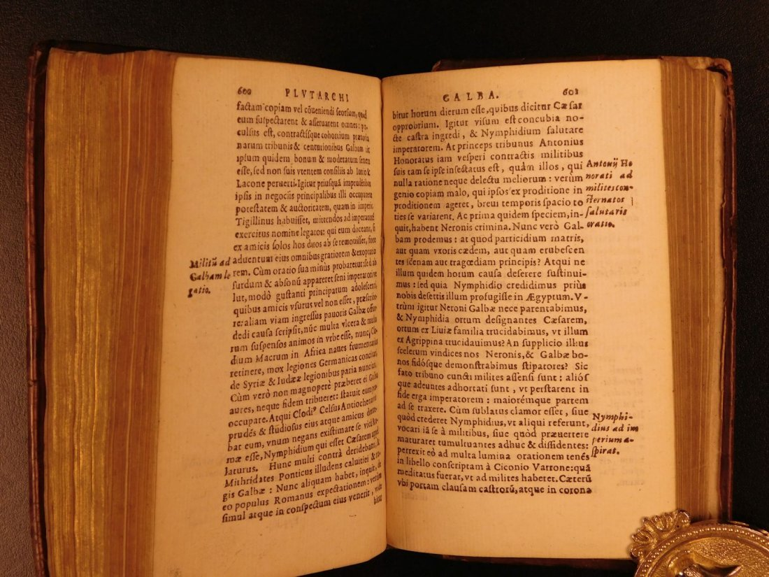 1567 PLUTARCH Parallel Lives Latin Alexander the Great - 9