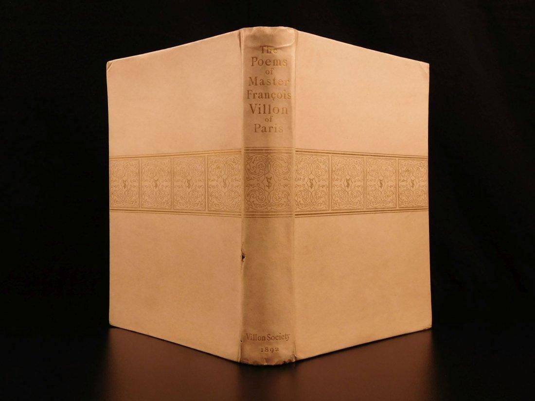 1892 François Villon Poems Criminal Middle Ages French