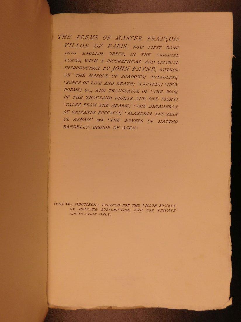 1892 François Villon Poems Criminal Middle Ages French - 2
