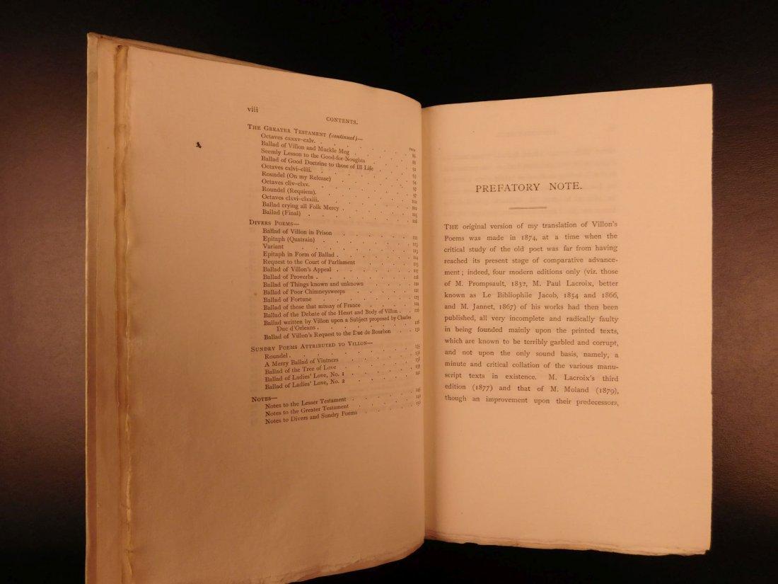 1892 François Villon Poems Criminal Middle Ages French - 5