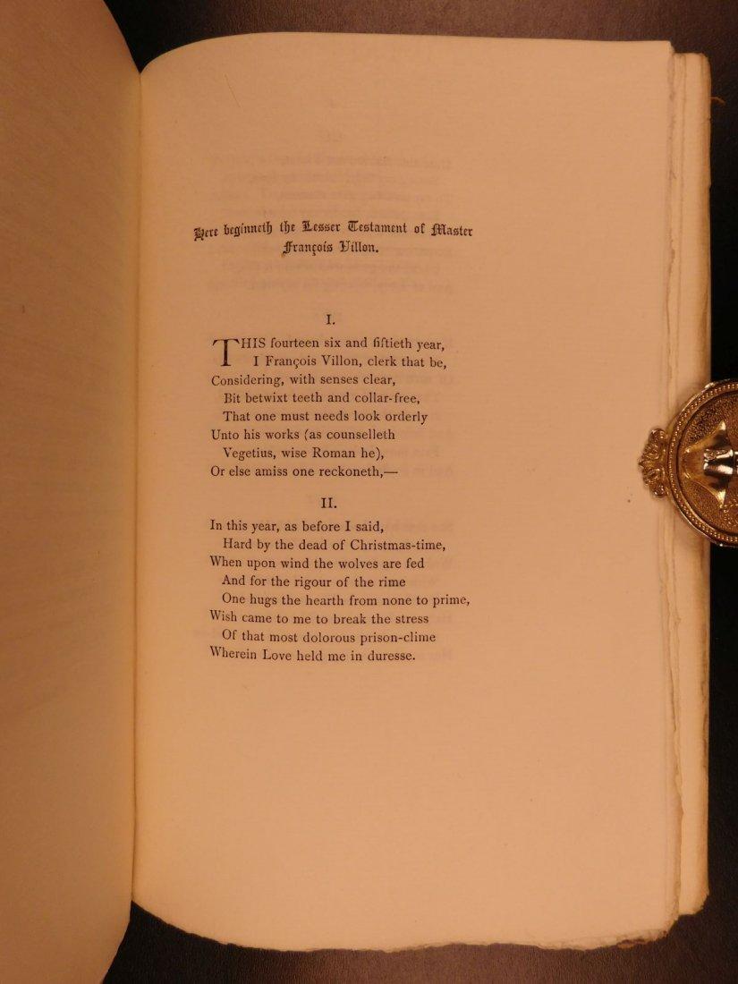 1892 François Villon Poems Criminal Middle Ages French - 8