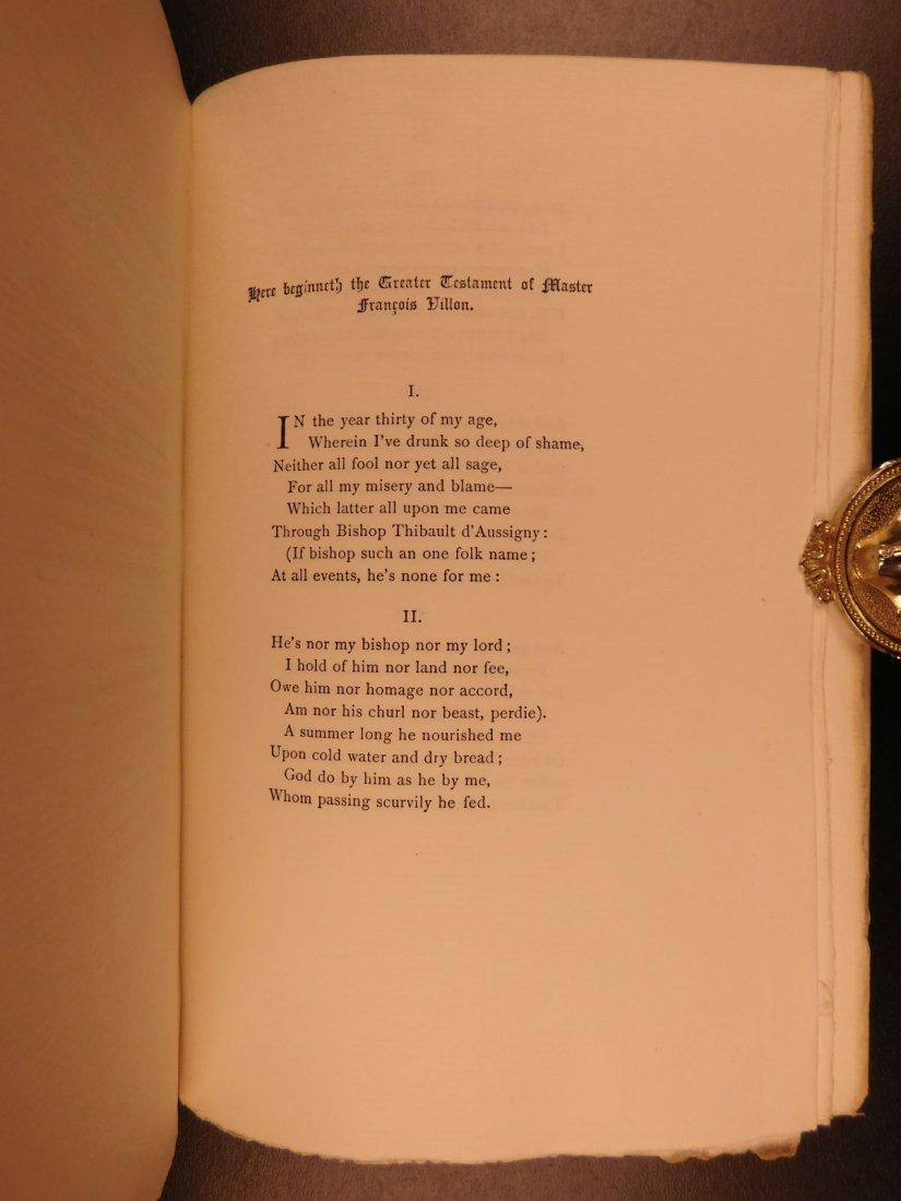 1892 François Villon Poems Criminal Middle Ages French - 9