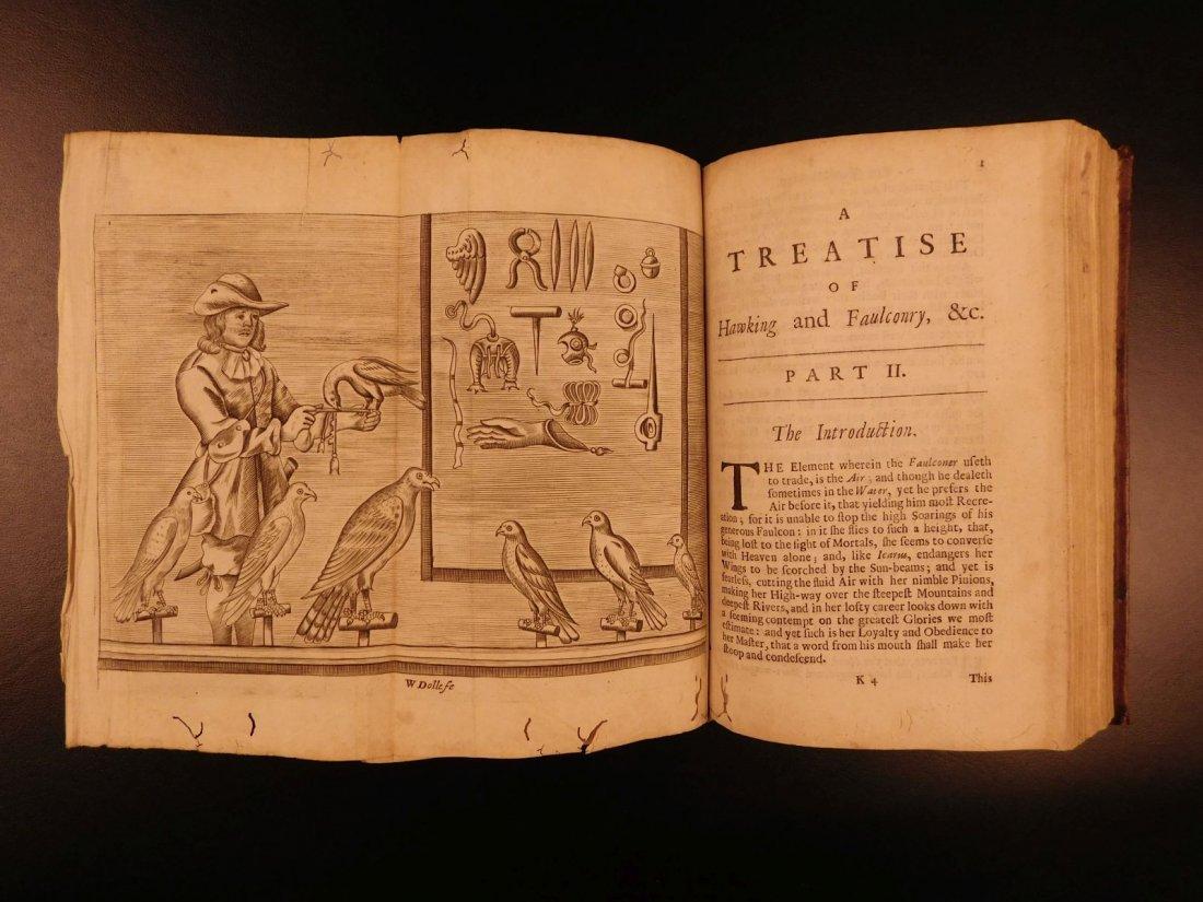 1697 Fishing Hawking Elk Hunting Illustrated Nicholas - 6