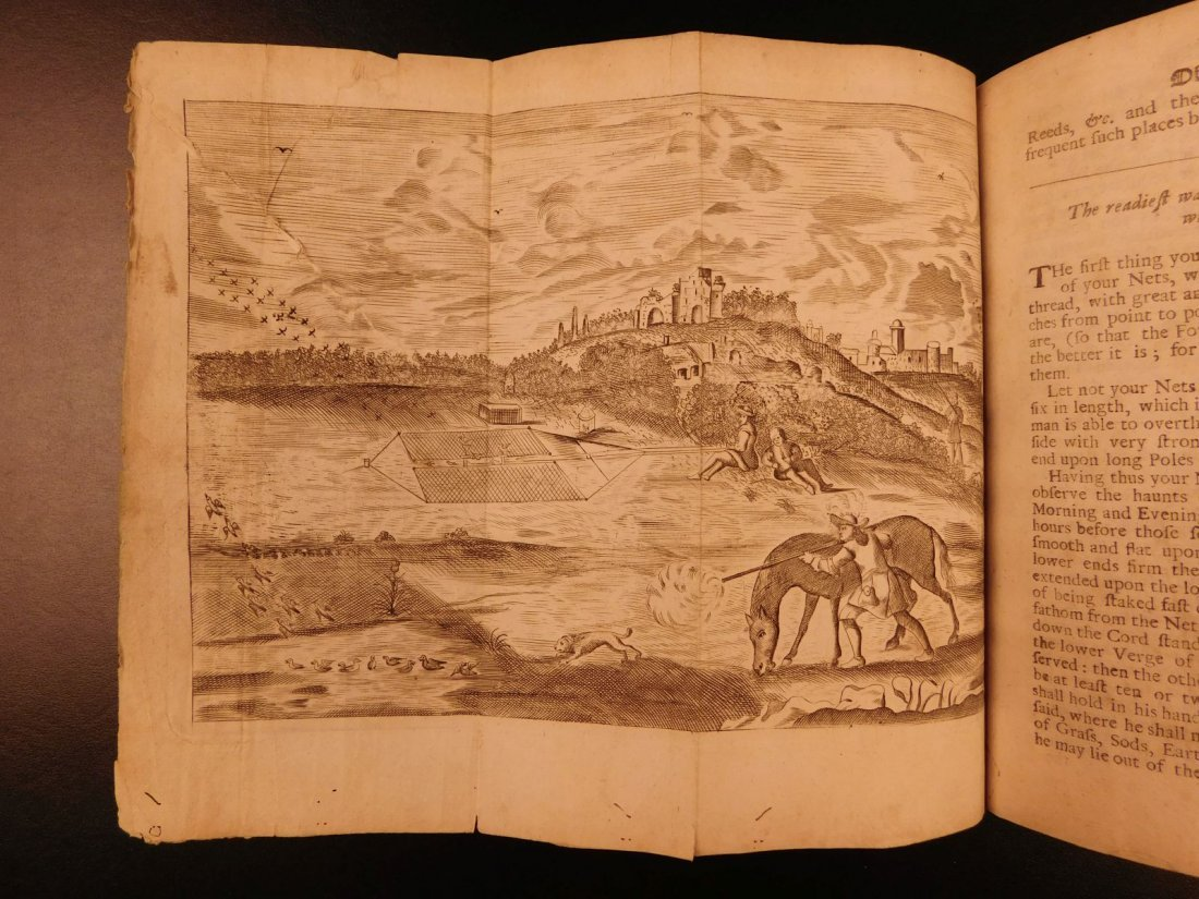1697 Fishing Hawking Elk Hunting Illustrated Nicholas - 8