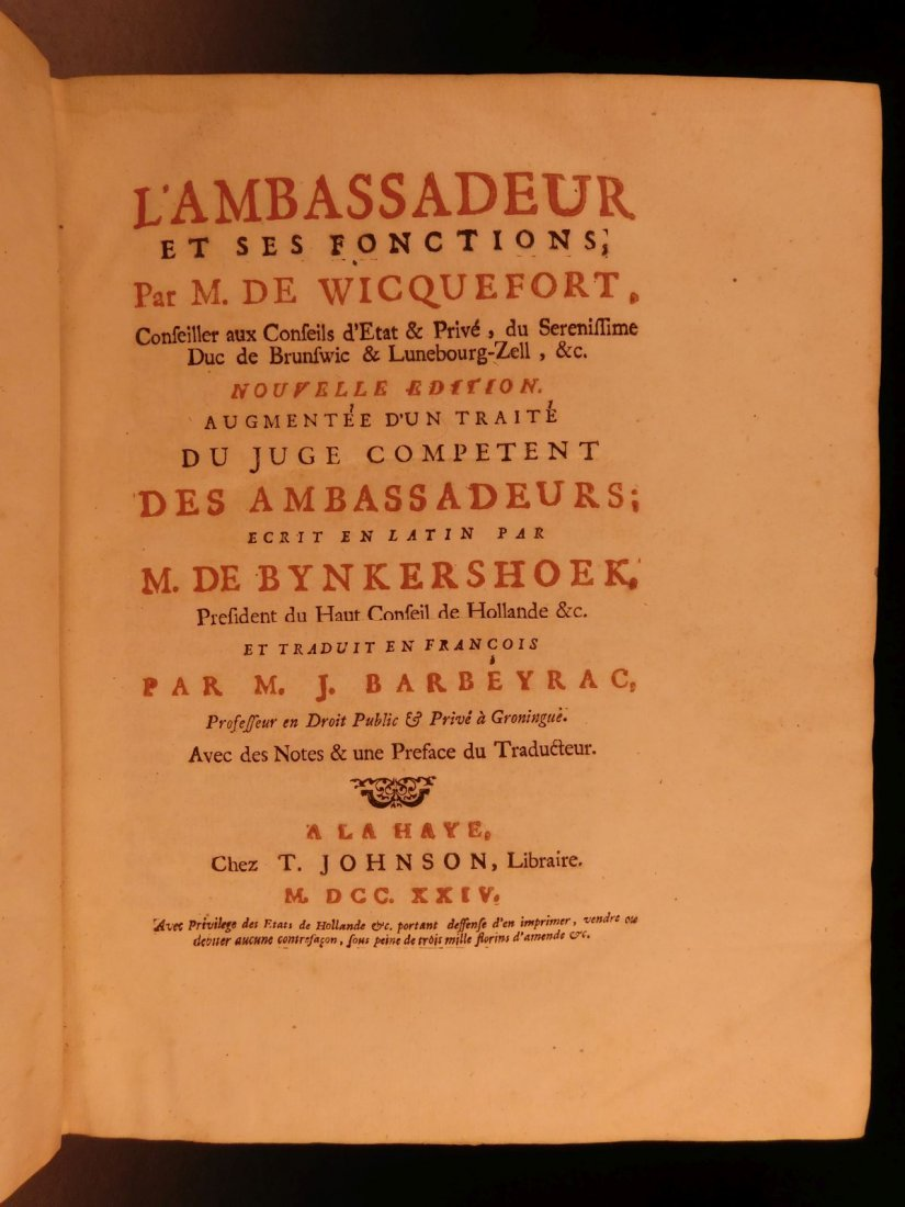 1724 Dutch Politics Diplomacy Abraham Wicquefort - 4