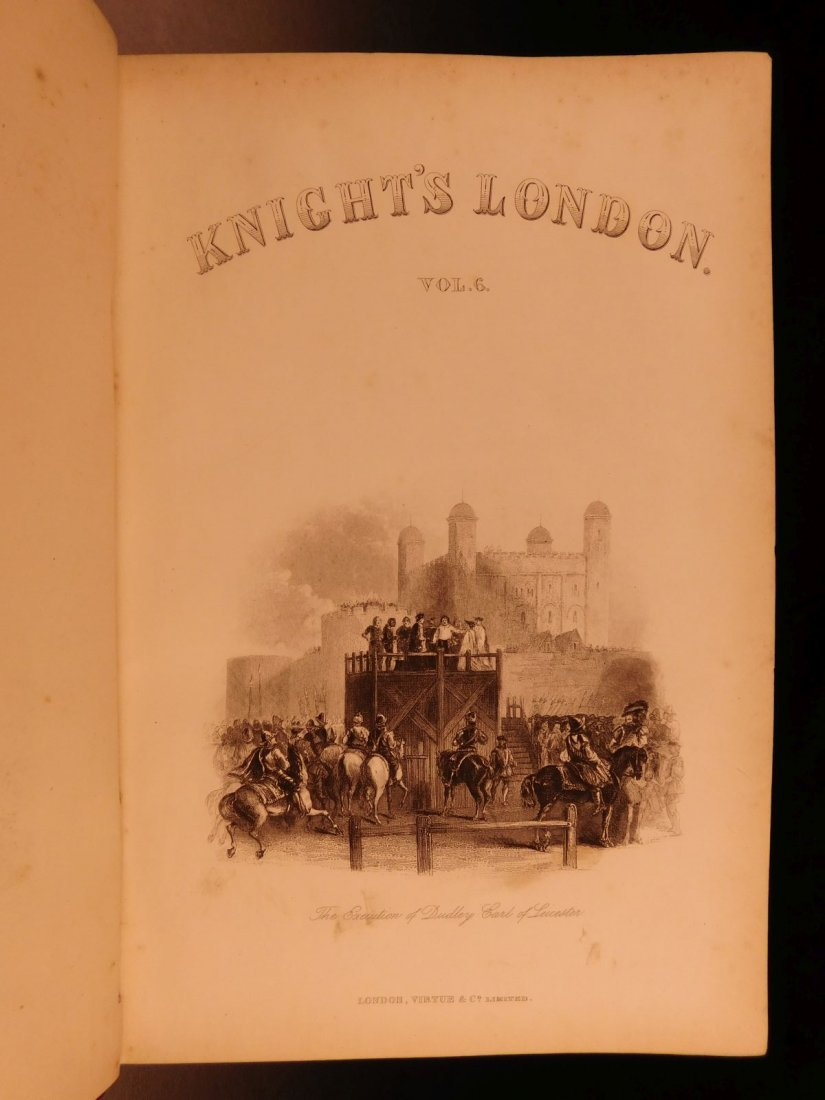 1870 Charles Knight LONDON Illustrated History Castles - 9