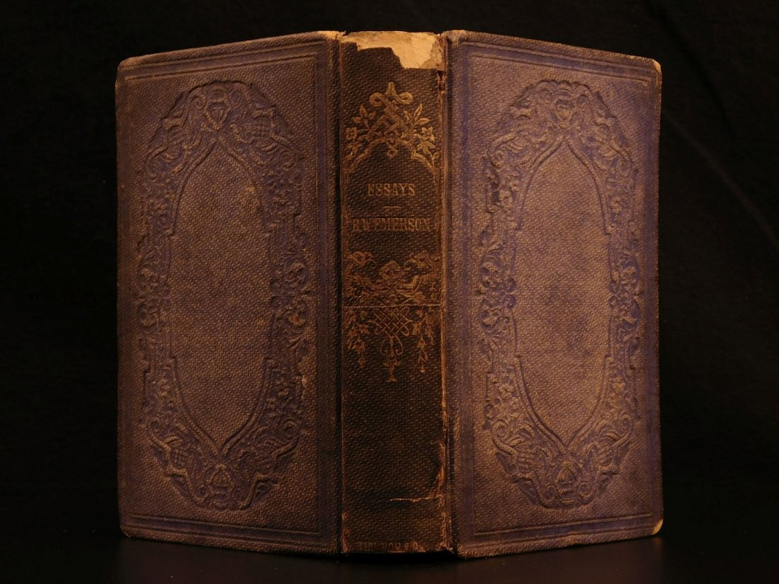 1865 Essays by Ralph Waldo Emerson Self Reliance Circle
