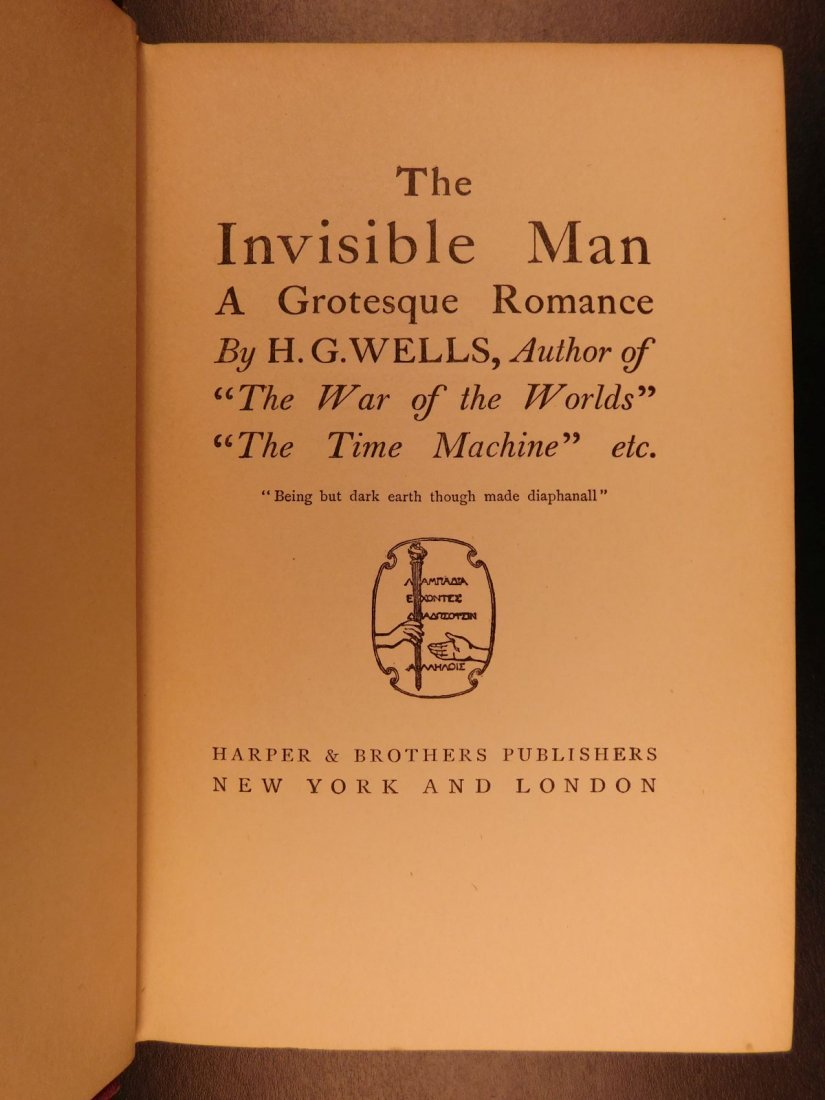 1897 HG Wells The Invisible Man Science Fiction Mystery - 2