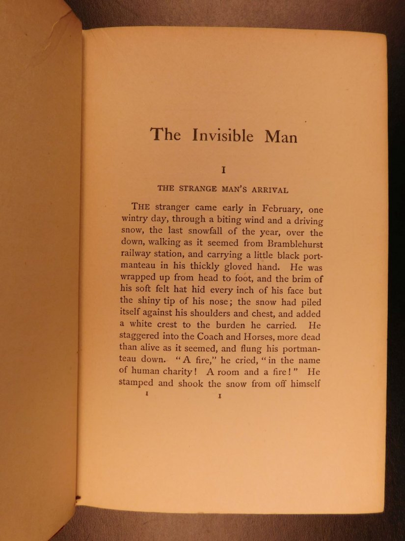 1897 HG Wells The Invisible Man Science Fiction Mystery - 5