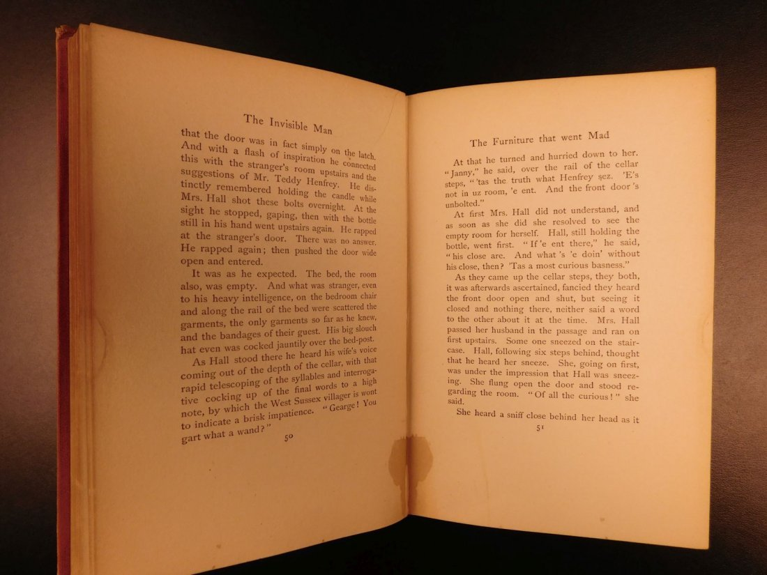 1897 HG Wells The Invisible Man Science Fiction Mystery - 6