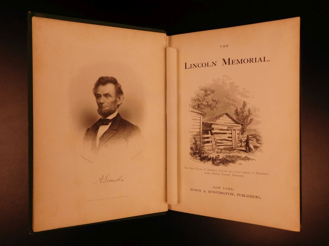 1865 Lincoln Memorial Life & Assassination US President - 2