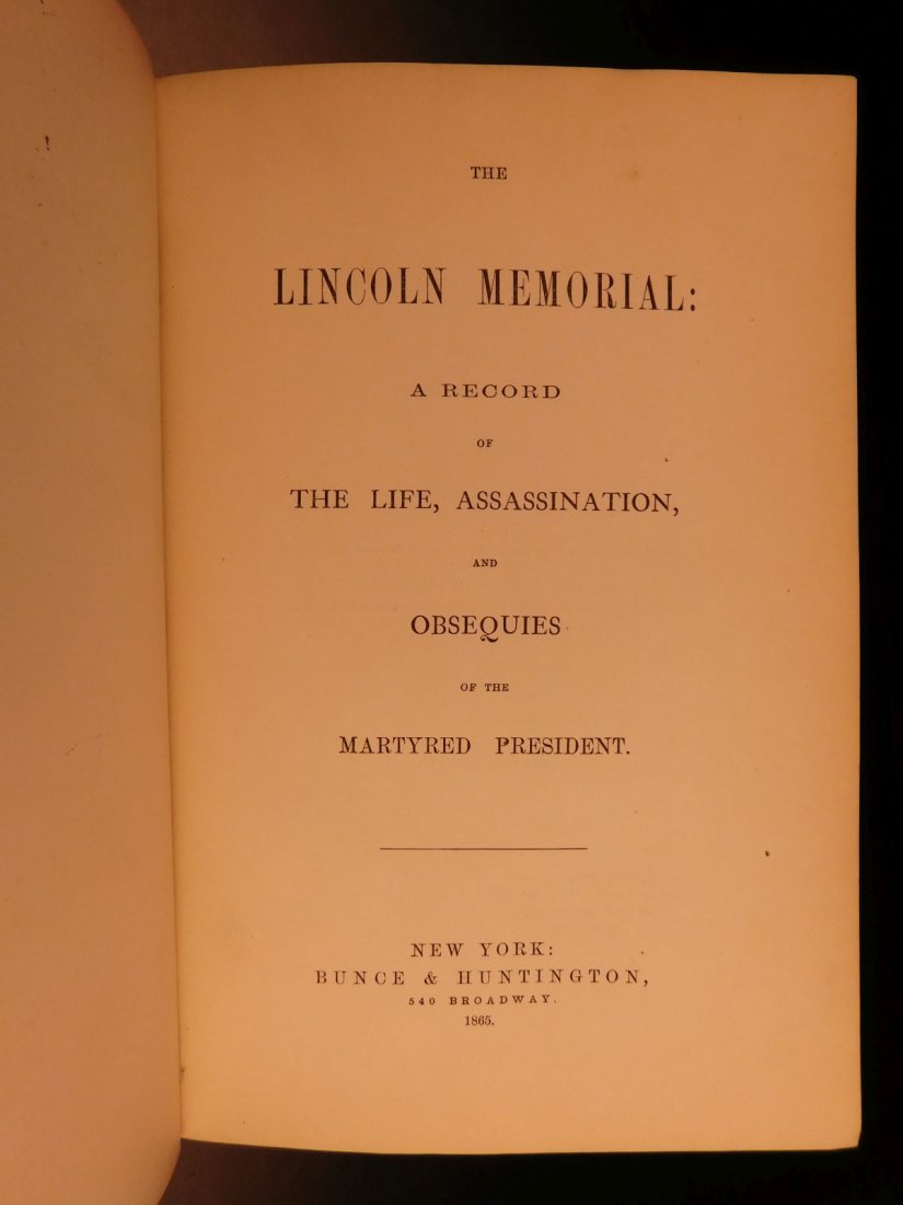 1865 Lincoln Memorial Life & Assassination US President - 3