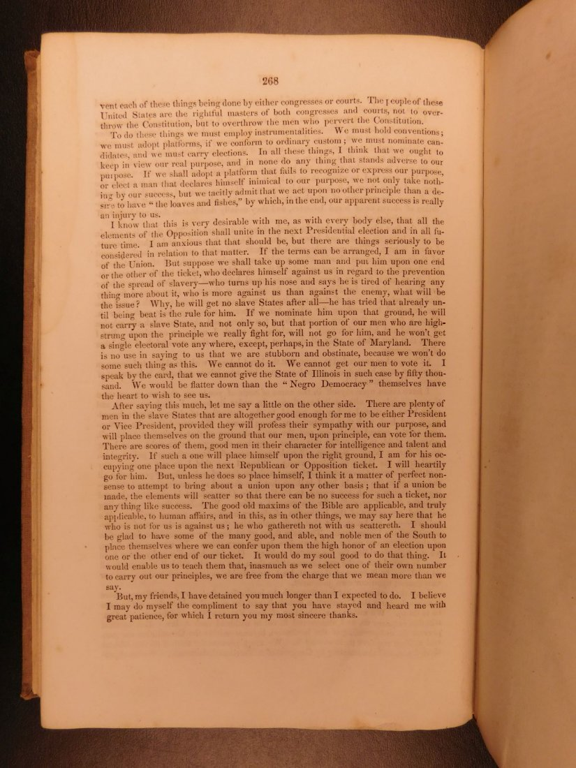 1860 1st ed Abraham Lincoln Douglas Debates American - 10