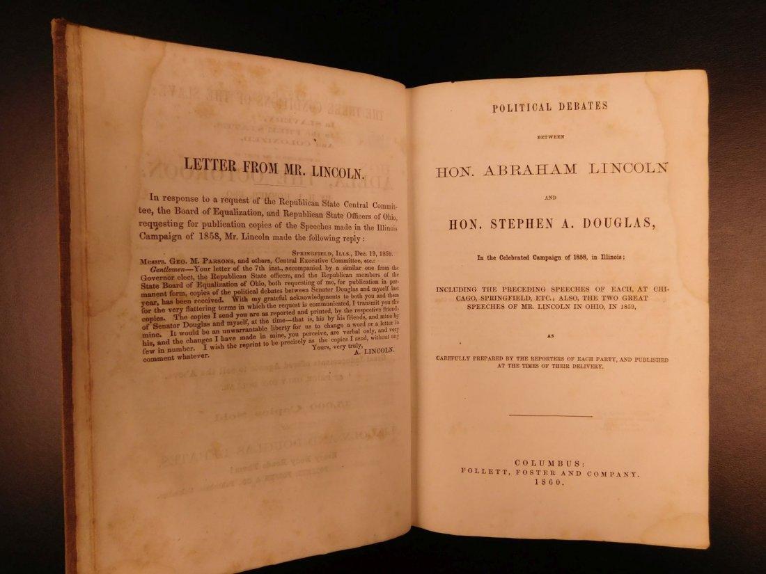 1860 1st ed Abraham Lincoln Douglas Debates American - 5