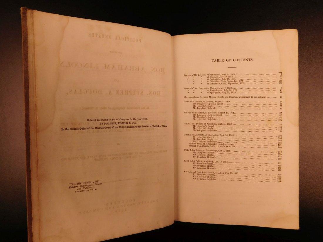 1860 1st ed Abraham Lincoln Douglas Debates American - 6