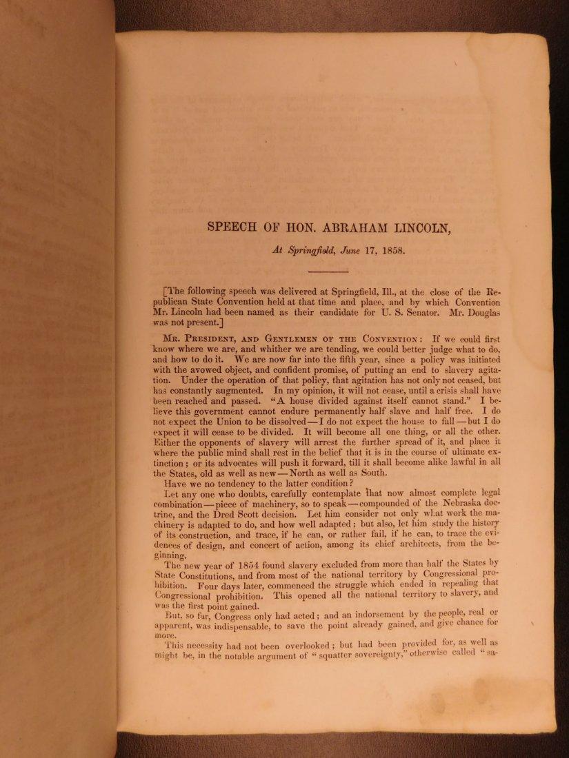 1860 1st ed Abraham Lincoln Douglas Debates American - 7