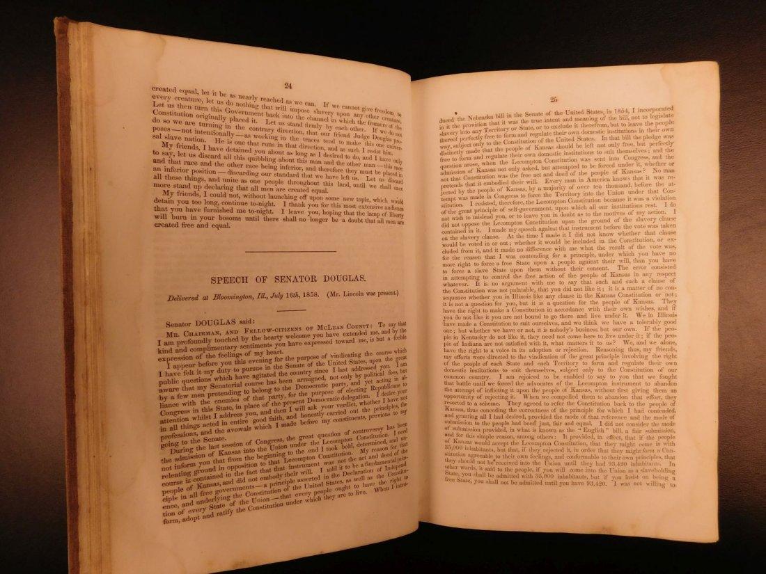 1860 1st ed Abraham Lincoln Douglas Debates American - 8