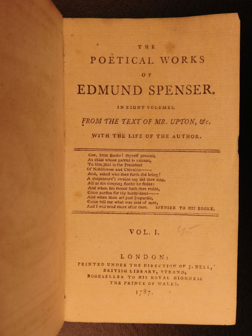 1778 Edmund Spenser Faerie Queene Fairy Queen John Bell - 4