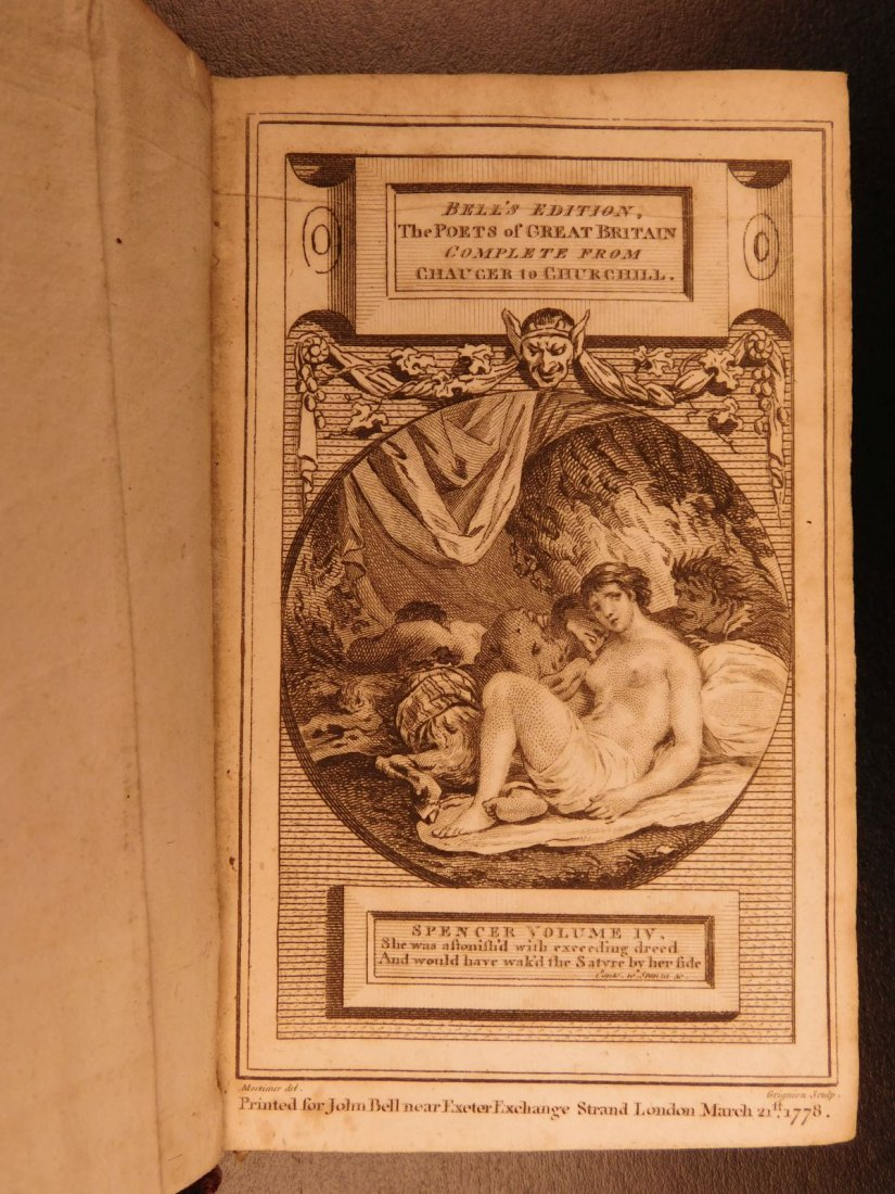 1778 Edmund Spenser Faerie Queene Fairy Queen John Bell - 5