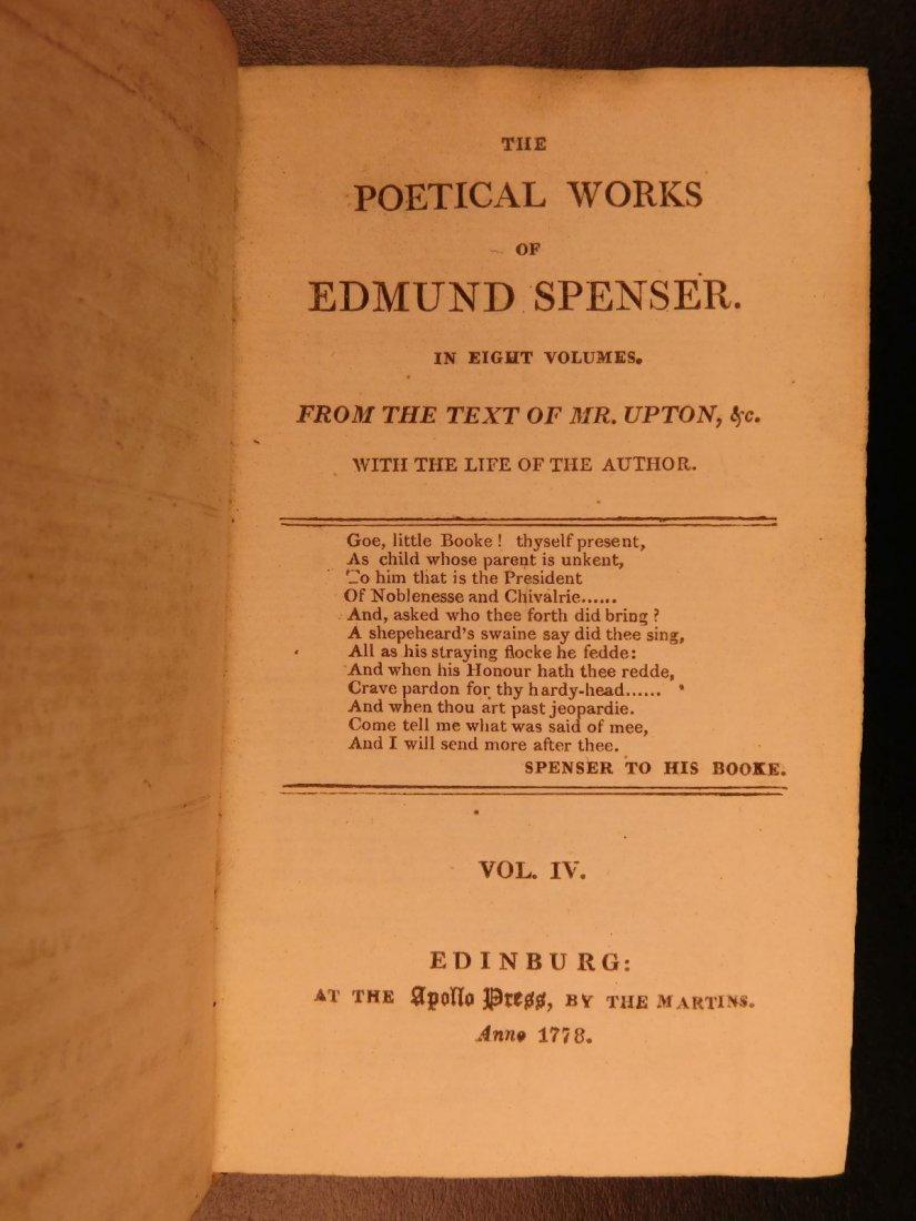1778 Edmund Spenser Faerie Queene Fairy Queen John Bell - 6