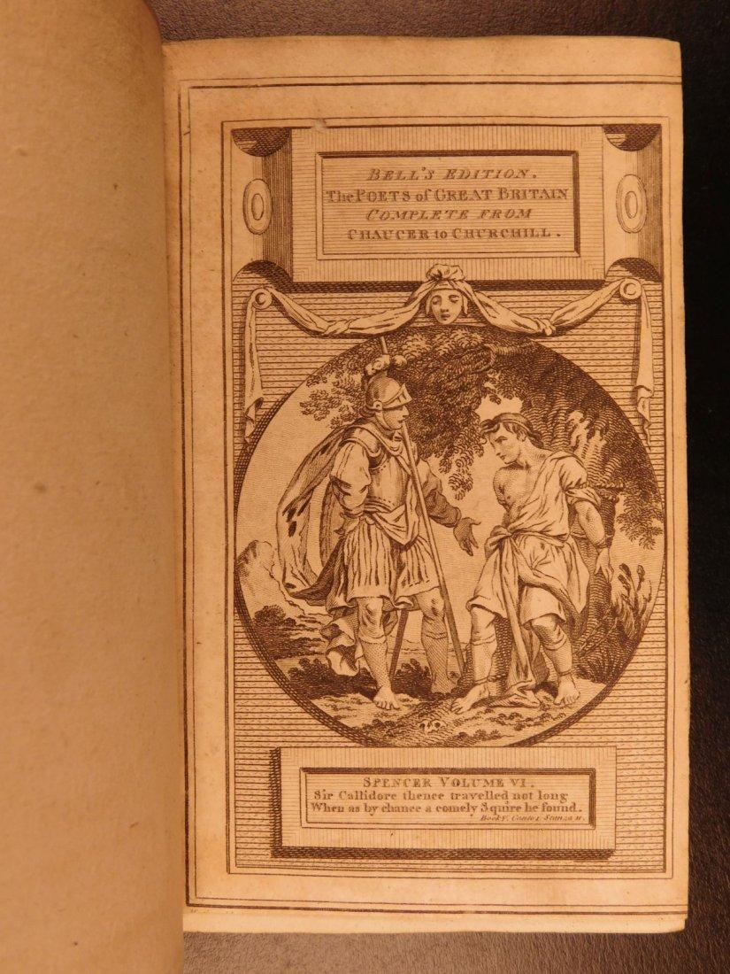 1778 Edmund Spenser Faerie Queene Fairy Queen John Bell - 7