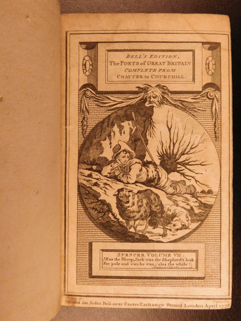 1778 Edmund Spenser Faerie Queene Fairy Queen John Bell - 8