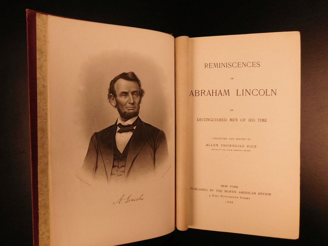 1888 Reminiscences of Abraham Lincoln Slavery Civil War - 2