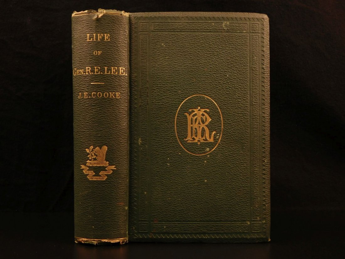 1871 Life of Robert E Lee Cooke Civil War Military