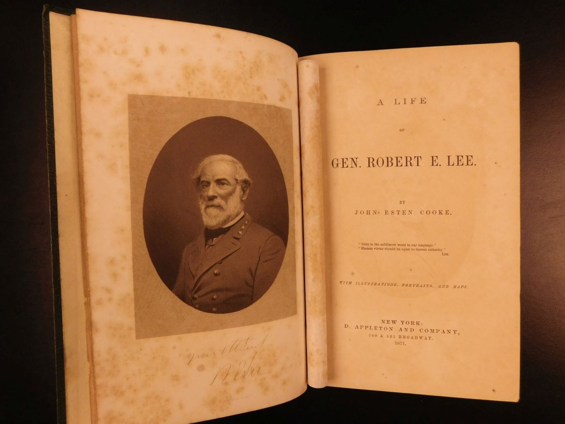 1871 Life of Robert E Lee Cooke Civil War Military - 2
