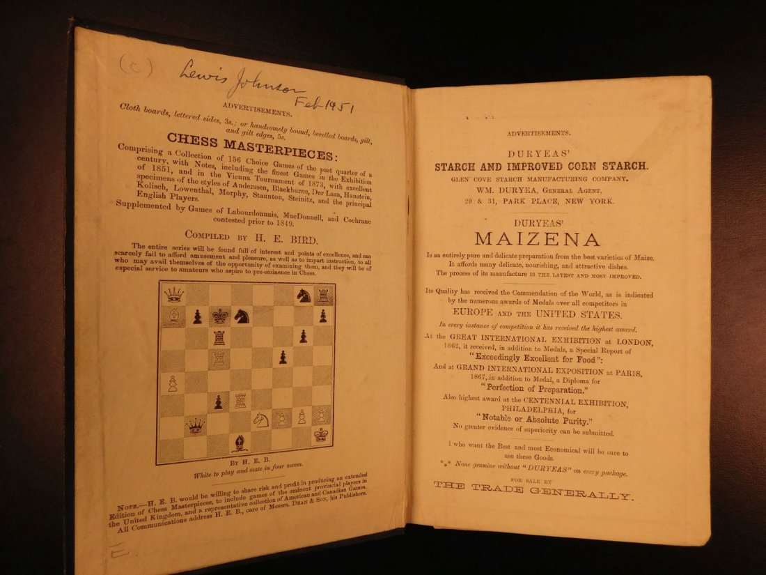 1880 Chess Openings Illustrated Strategy Rules Games - 2