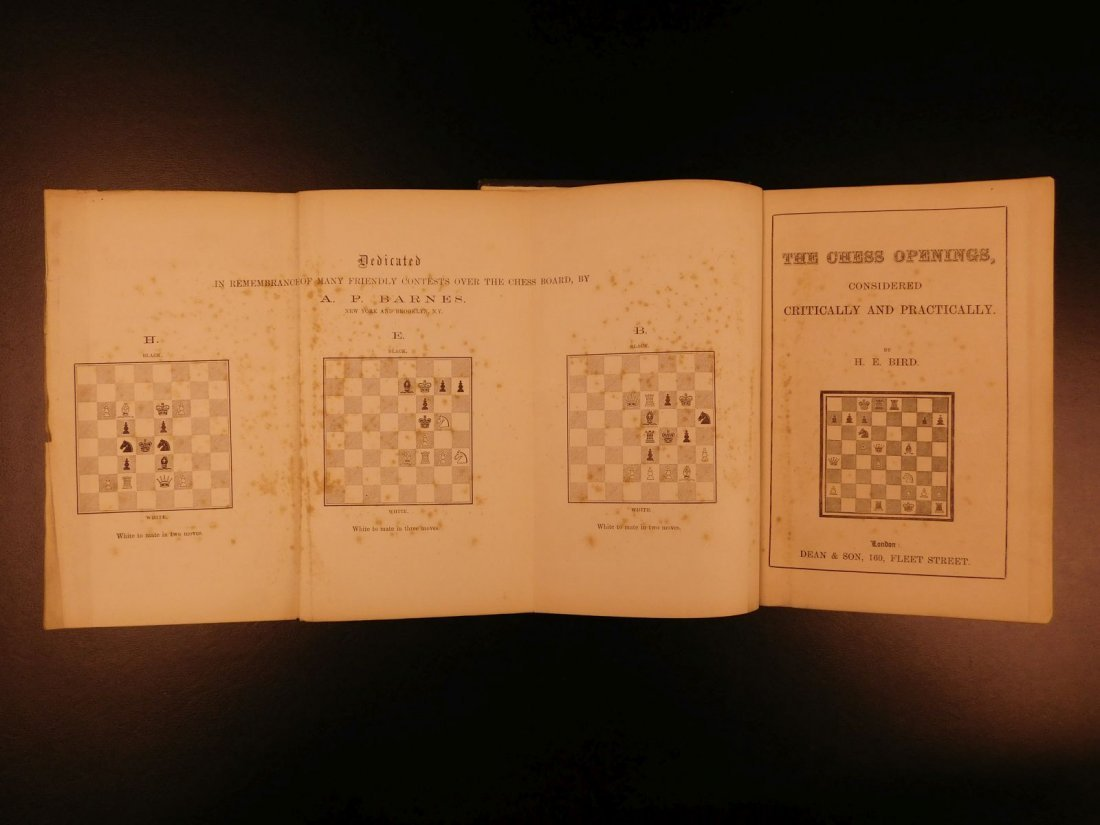 1880 Chess Openings Illustrated Strategy Rules Games - 3