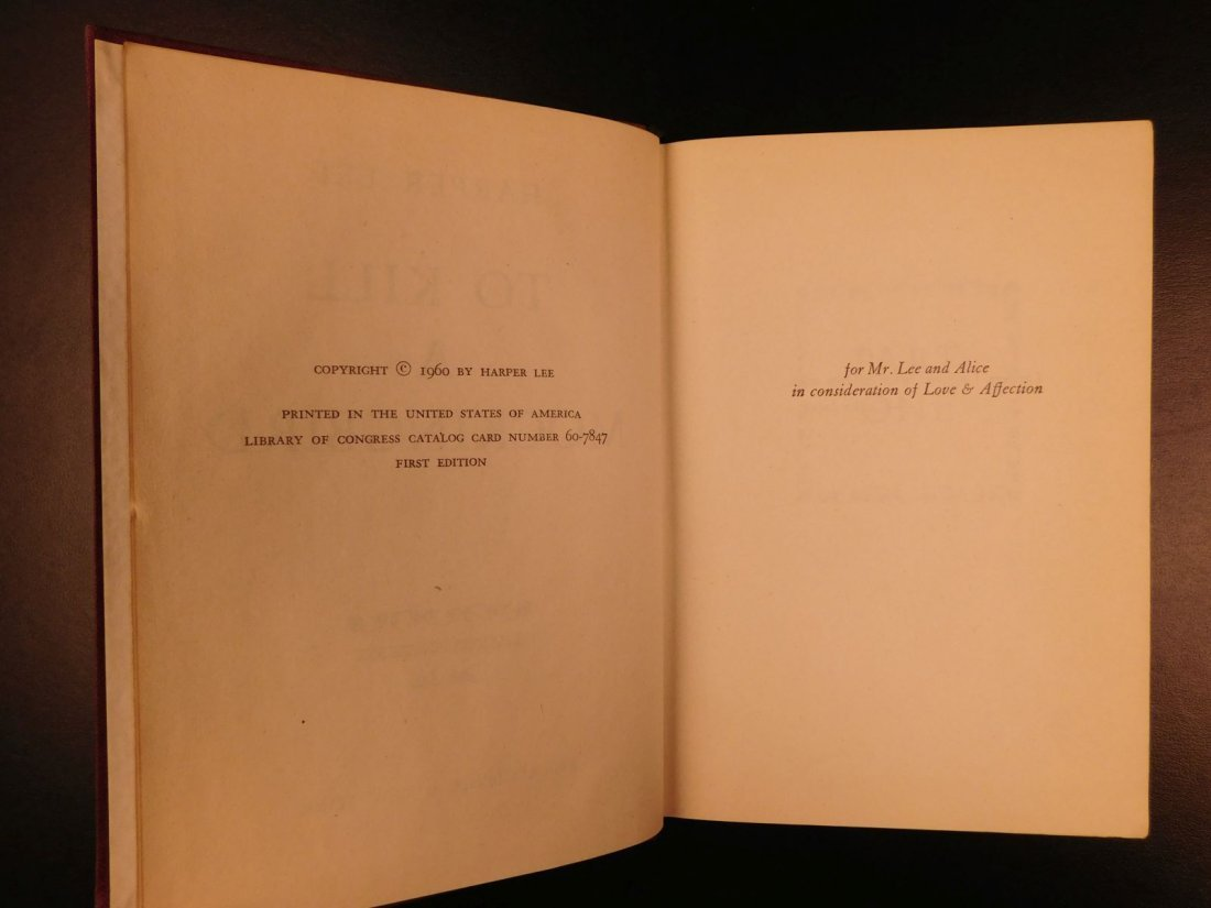 1960 Stated First Edition To Kill A Mockingbird - 7