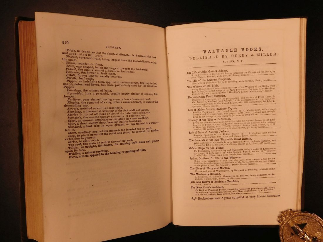 1851 American Wines Fruit Culturist Horticulture Botany - 10