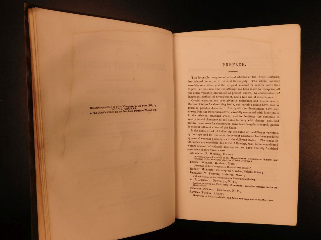 1851 American Wines Fruit Culturist Horticulture Botany - 3