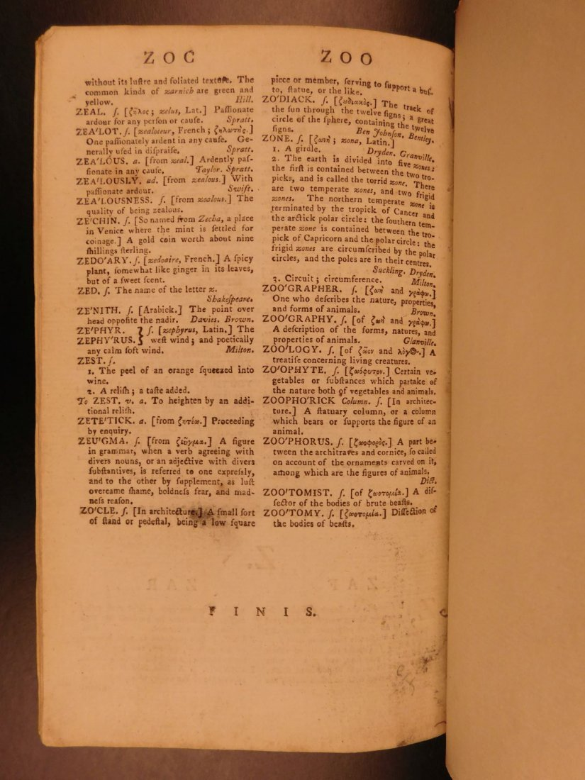 1778 Samuel Johnson FAMOUS Dictionary of English - 10