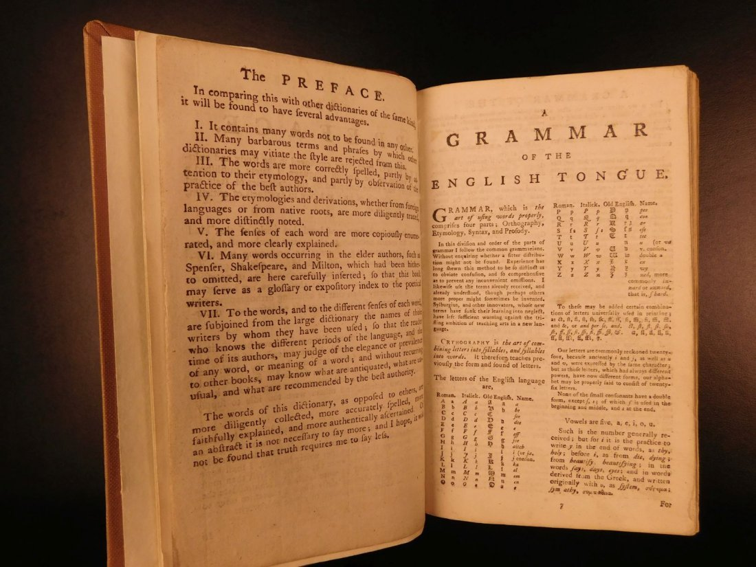 1778 Samuel Johnson FAMOUS Dictionary of English - 5