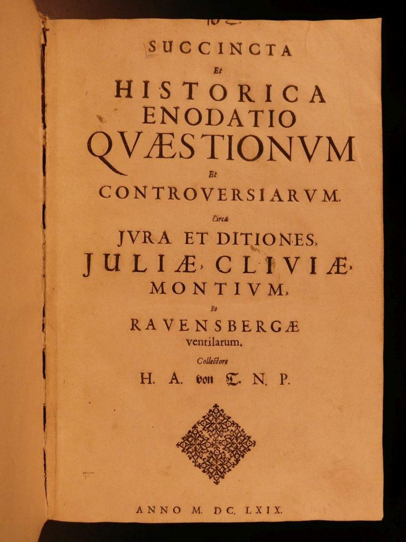 1669 Albert von Curtz Succincta et Historica Jesuit - 2