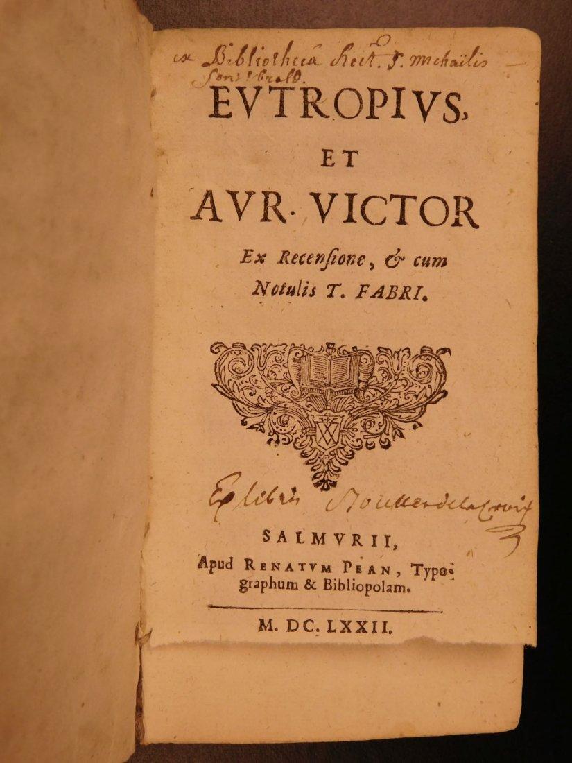 1672 Eutropius Breviarium History ROME Valens Pagan - 2