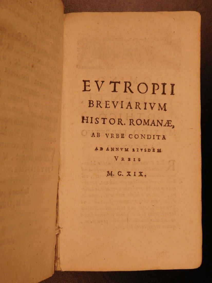 1672 Eutropius Breviarium History ROME Valens Pagan - 4