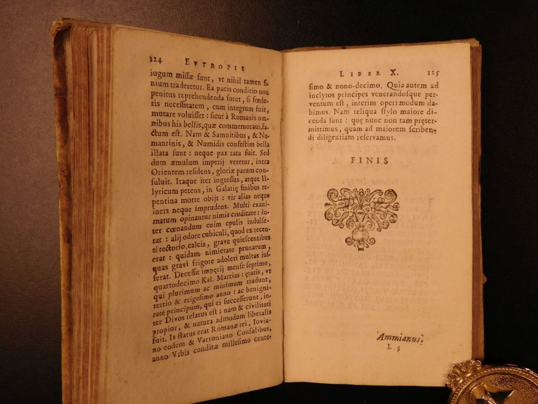 1672 Eutropius Breviarium History ROME Valens Pagan - 8