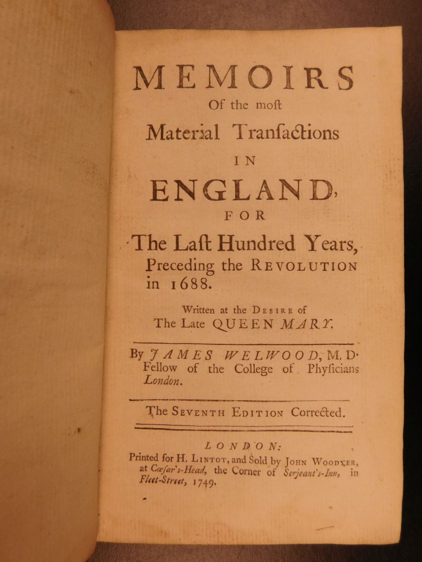 1749 Queen Elizabeth Walter Raleigh Memoirs - 3